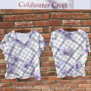 Coldwater Creek // Lined V-Neck Top